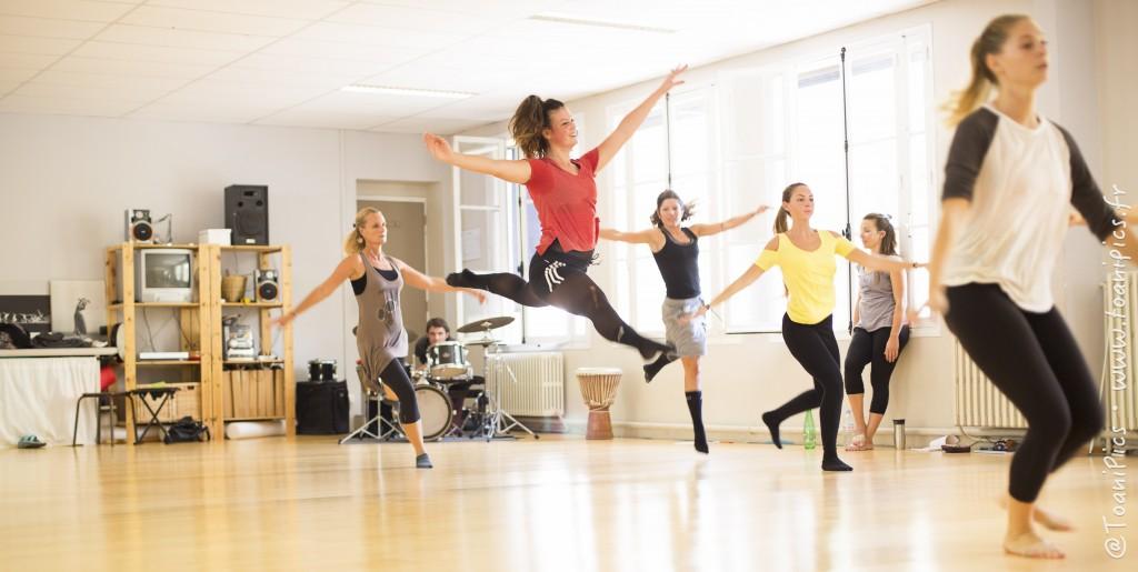danse Studio saut