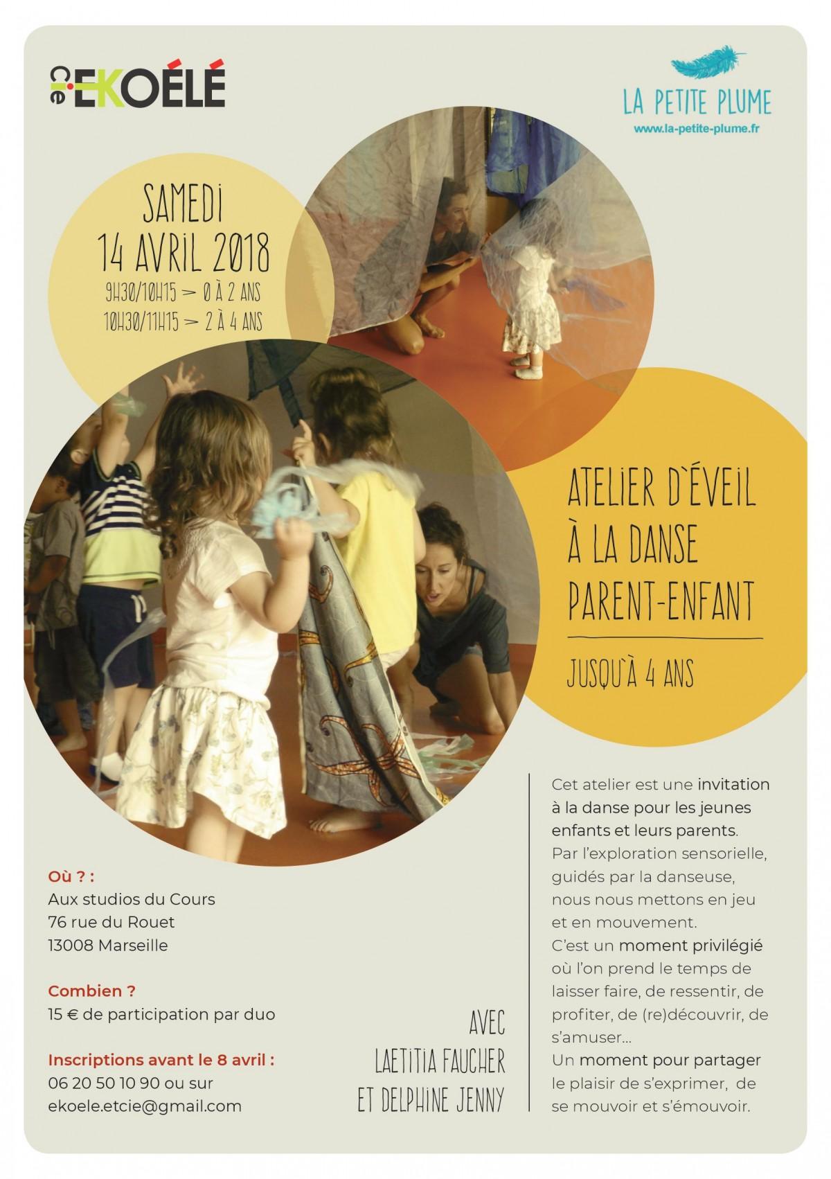 Atelier danse parent-enfant aux Studios du Cours aux Studios du Cours à Marseille