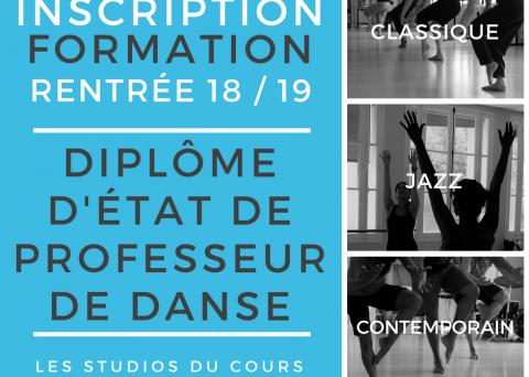 Formation diplome d'état professeur de danse Marseille Studios du Cours